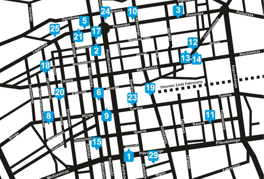 Карта варшавских муралов, фото: urbanforms.org