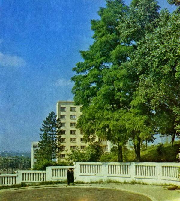1980-е гг. Старая площадь бывшего кладбища у НИИ Туберкулёза.