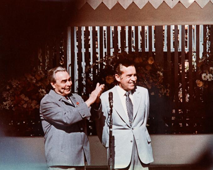 Леонид Брежнев и Ричард Никсон в США (Речи приветствия). 1967