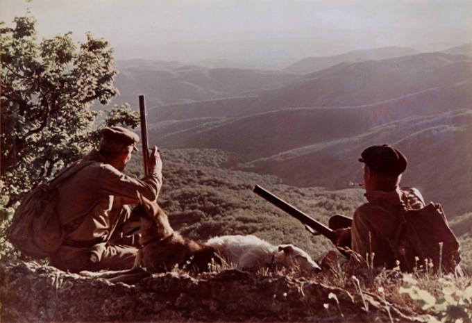 Привал охотников. 1950