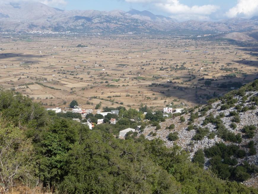 View outside Zeus cave Crete
