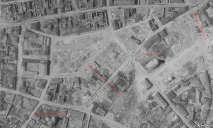 Старый Базар на аэроснимке мая 1944 года (docs.ahistory.info).
