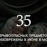 Цифра дня: обезвреженные в июне бомбы