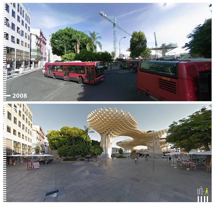 Plaza de la Encarnación, Seville, Spain.