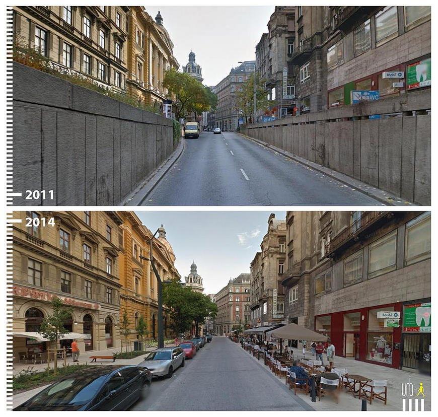 Ferenciek tere, Budapest, Hungary.
