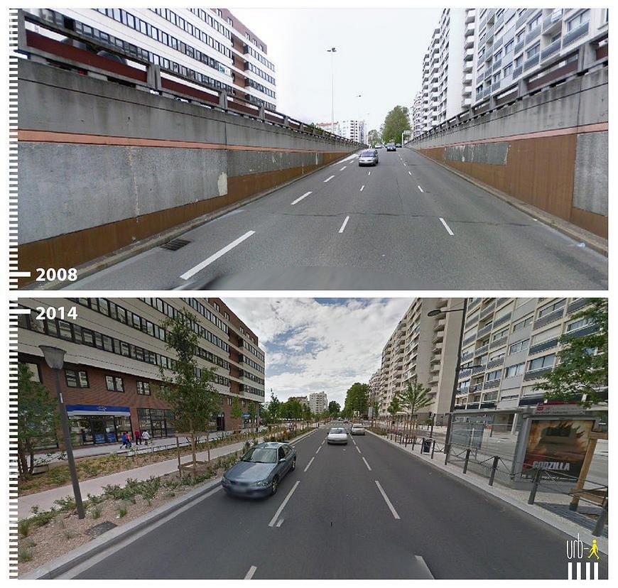 Rue Garibaldi, Lyon, France.