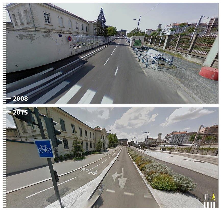 Rue du Général Mouton-Duvernet, Lyon, France.