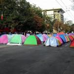 Протестующие перекрыли проспект Штефана чел Маре