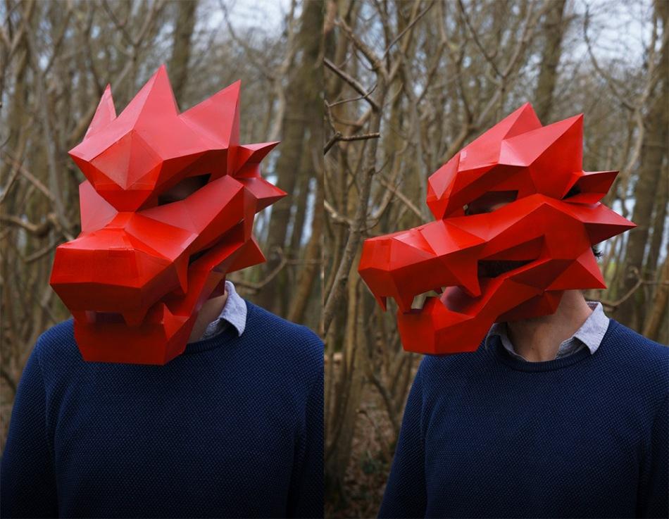 Как сделать оригами маски