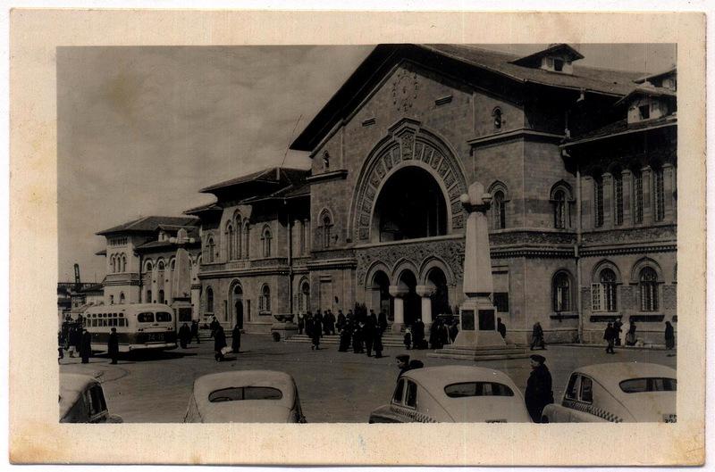 Кишинёв - железнодорожный вокзал (фото Д.Яцкул) 1956