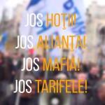 8 лозунгов митингующих против повышения тарифов