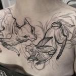 Татуировки, которые выглядят как карандашные наброски