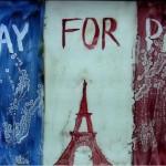 #PrayForParis — artista Ana Munteanu a creat o nouă pictură pe nisip în memoria victimelor din Franța