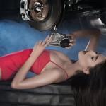 Фотографии Елены Горошки для календаря Auto Mall 2016