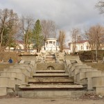Restaurarea scărilor cascadă din Parcul Valea Morilor va continua în februarie