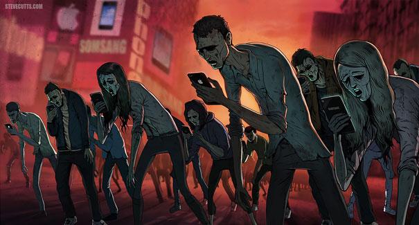 11-satirical-illustrations-addiction-technology
