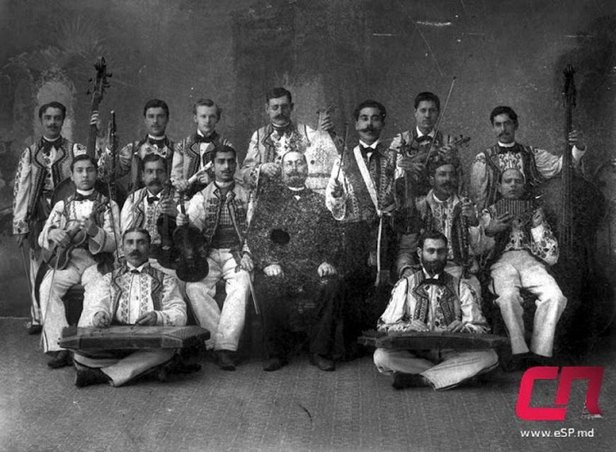 Первый профессиональный ансамбль народной музыки в Бельцах, 1915 г.