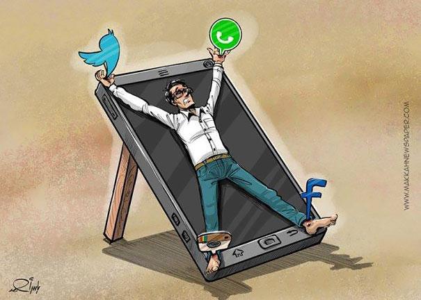 14-satirical-illustrations-addiction-technology