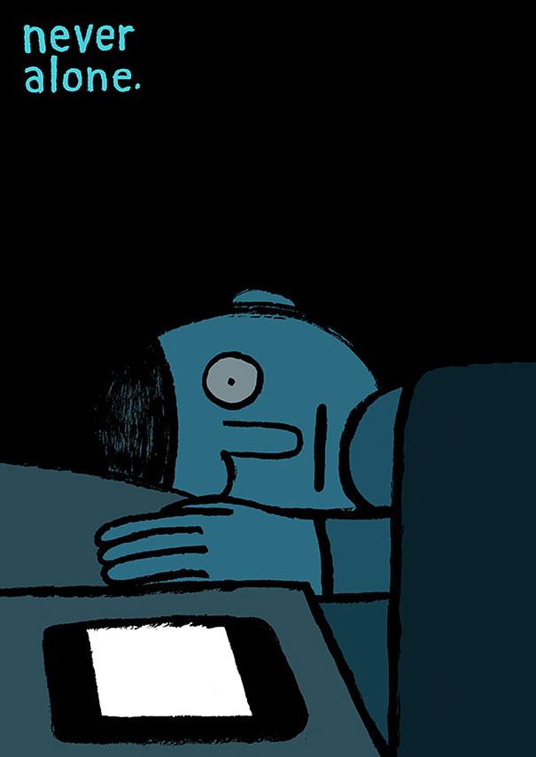 18-satirical-illustrations-addiction-technology