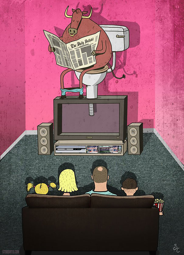 20-satirical-illustrations-addiction-technology