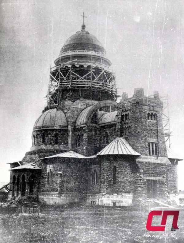 Строительство кафедрального собора Святых Константина и Елены, начало 30-х гг.