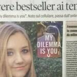 Девушка из Молдовы написала книгу, ставшую бестселлером в Италии