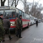 Протестующие заблокировали движение общественного транспорта на Телецентре