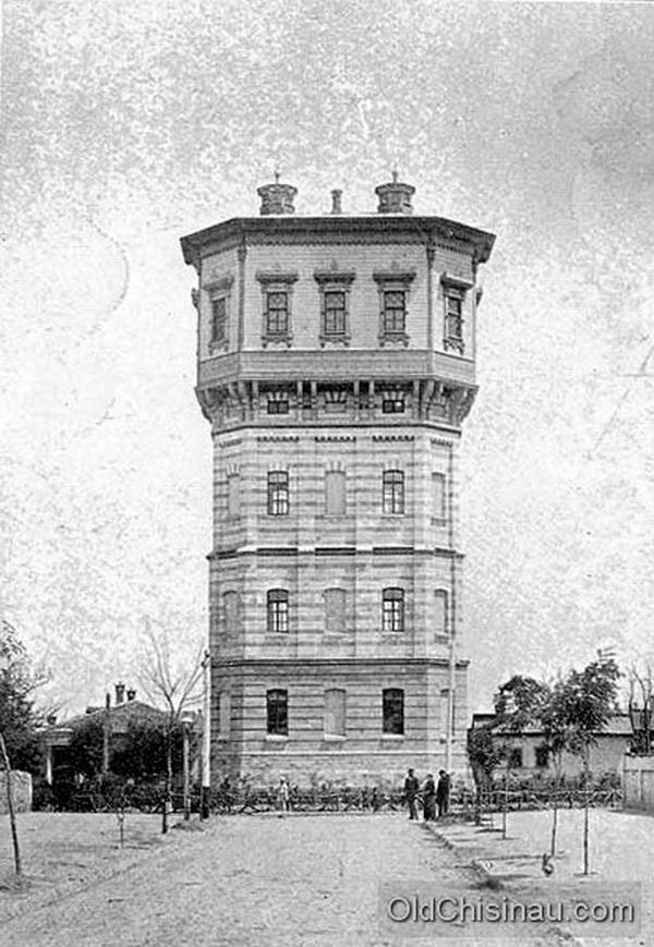 Одна из двух водонапорных башен Кишинёва. Данная башня располагалась на перекрёстке нынешних улиц Александри и Микле. Здание пережило Вторую Мировую Войну, но всё равно было снесено.