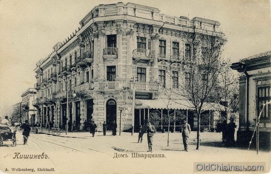 Дом Шварцмана был повреждён во Второй Мировой Войне и не был восстановлен. Располагался на углу нынешних улиц Пушкина и Вероники Микле.