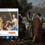 Классические картины представили в виде постов в Instagram