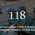 Цифра дня: сколько людей в Молдове стоят в очереди на трансплантацию органов
