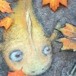 Забавные персонажи Дэвида Зинна, нарисованные мелом на асфальте