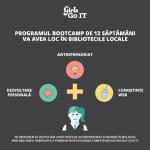 Participă la un program al GirlsGoIT de 12 săptămâni pentru a învăța cum să dezvolți un produs și un website