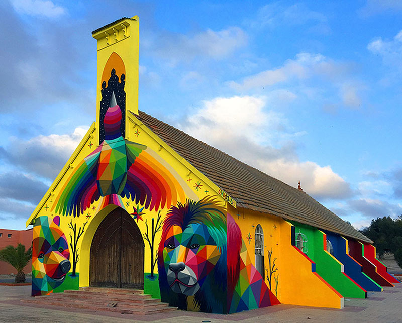 abandoned-church-painted-urban-street-art-okuda-san-miguel-morocco-18