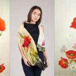 Идея для подарка на 8 марта: шелковые платки с ручной росписью