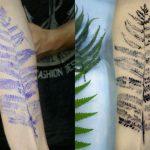 Украинский художник создаёт тату при помощи настоящих цветов и листьев