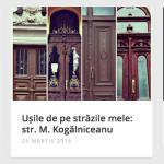 Двери исторических зданий Кишинёва на интерактивной карте