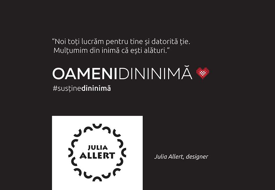 Cover Julia Allert cu logo