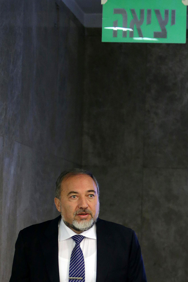 Israel's Foreign Minister Avigdor Liberman seen arriving to the weekly government conference at Prime Minister Netanyahu's office in Jerusalem. December 16, 2012. Photo by Alex Kolomoisky/POOL/FLASH90
