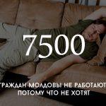 Цифра дня: сколько в Молдове тунеядцев