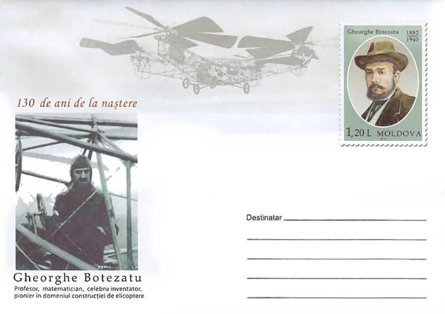 Gheorghe Botezatu (George de Bothezat), 1882-1940. Teacher, Mathematician, Inventor. Pioneer of Helicopter Flight