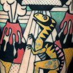 Стрит-арт в татуировках Luca Font