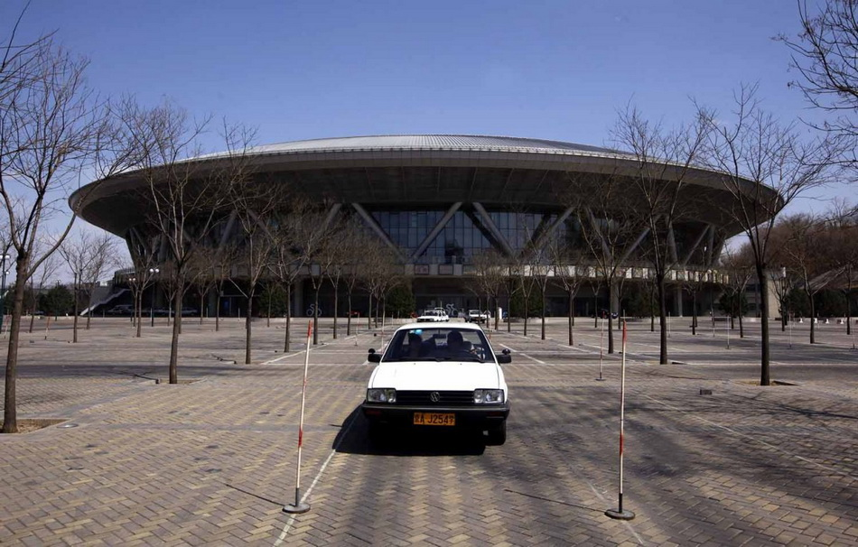 the-parking-lot-for-the-cycling-stadium-is-now-used-for-driving-tests