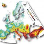 На сейсмической карте Европы Молдова фигурирует как страна со средним уровнем риска землетрясений