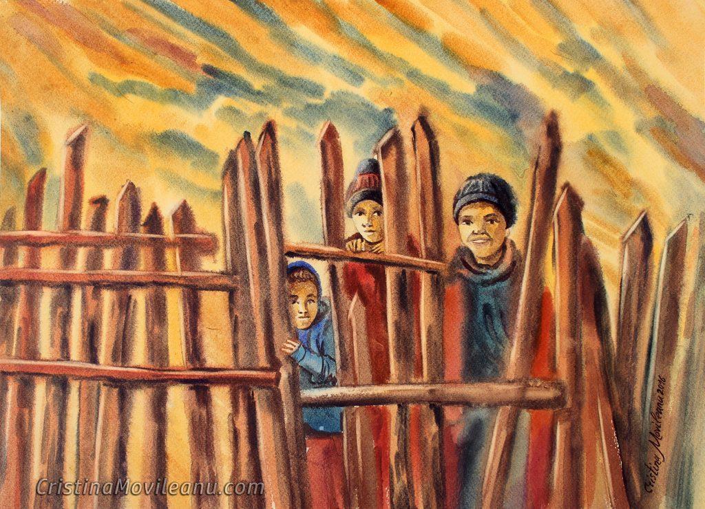 copii-cerului-acuarela-cristina-movileanu