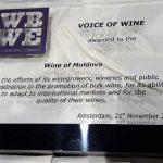 Бренд «Вина Молдовы» наградили специальным призом «Voice of Wine» на выставке WBWE 2016