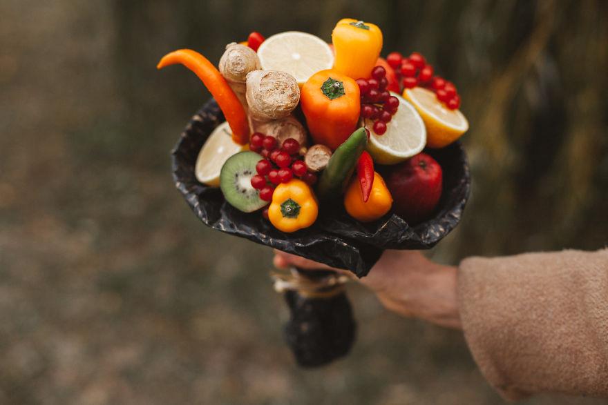 Как сделать съедобные букеты из овощей и фруктов