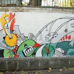 Un nou street-art pe gardul Stadionului Republican din Chișinău