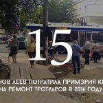 Цифра дня: сколько примэрия потратила на ремонт тротуаров в 2016 году