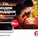 Модем 3G или 4G в подарок к праздникам с абонементами «Connect» от «Unite»
